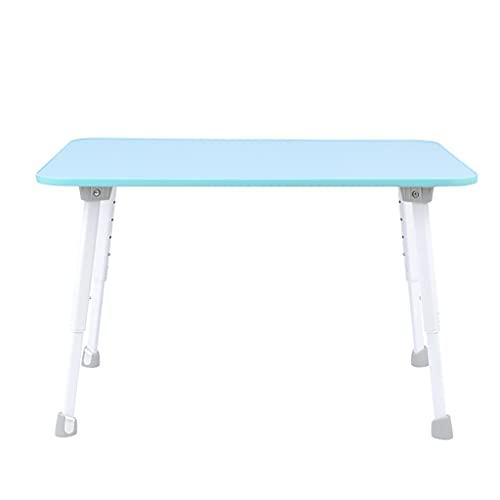 Dongxiao Mesa plegable plegable para ordenador portátil, para uso diario, estudio, oficina, escritorio, plegable, mesa de camping, para interiores y exteriores, muebles de oficina (color: azul)