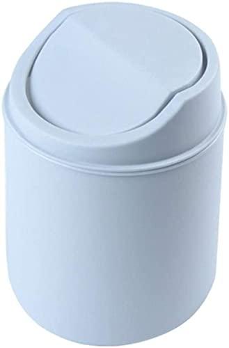Cubo de Basura pequeño para encimera Tapa abatible Cubierta extraíble Papelera de Mesa para Oficina en casa, Cubo de Basura de plástico, Contenedores de Basura de clasificación