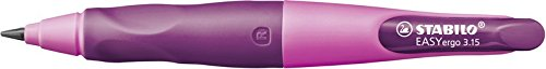 Portaminas ergonómico STABILO EASYergo START Cuerpo rosa Modelo para DIESTROS + Minas para STABILO EASYergo START Pack con 6 minas