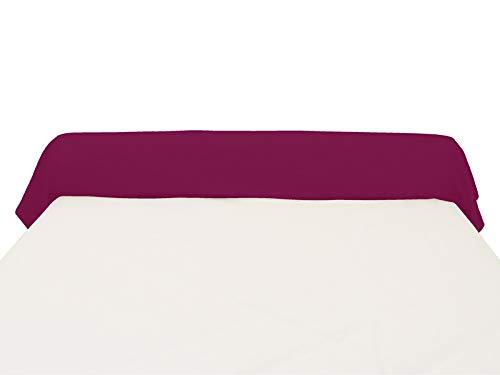 Funda de travesaño 45x135 cm Lisa de algodón 57 Hilos Grosella de Soleil d'ocre