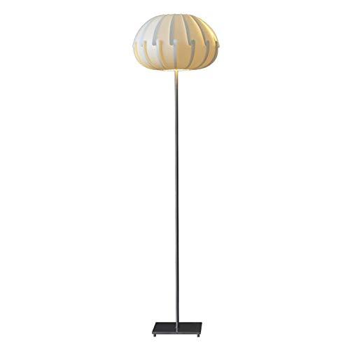 Lámparas de pie LED lámpara de pie for la lectura en salas de estar y oficinas con polipropileno blanco Pantalla altura, de pie poste ligero, Aspecto acero inoxidable cepillado, LED de 3W Iluminación