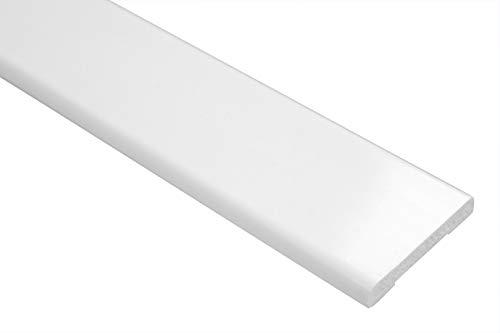 2 Metri PVC Profilo Piatto Plastica Piano BAR Liscio Antiurto 6x40mm, F01