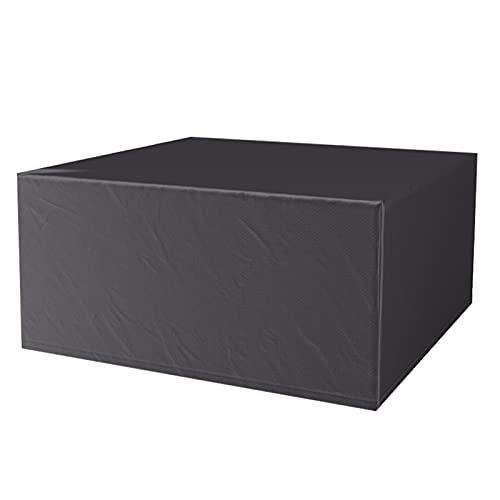 AWSAD Funda Mesa Jardin Impermeable Recubrimiento PU Jardín Funda Muebles Almacenamiento Conveniente Lona Impermeable, Personalizable (Color : Negro, Size : 70X70X140cm)