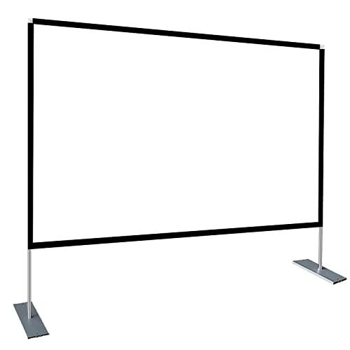 Pantalla de proyección portátil de 120 Pulgadas Frontal 16: 9 Pantalla de película de proyección con Bolso de Mano para Viajes de Teatro en el Patio Trasero de un Teatro doméstico Interior y Exterior