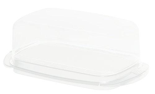 Rotho Fresh Butterdose, Kunststoff (BPA-frei), Weiß, (18 x9,5 x 6,5 cm)