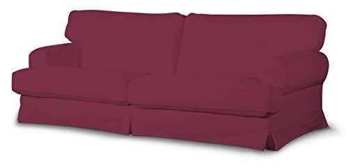 Dekoria Ekeskog Sofabezug Nicht ausklappbar Husse passend für IKEA Modell Ekesgog Pflaume