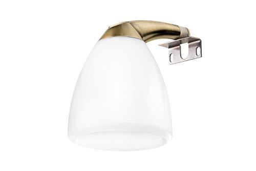 Lámpara de baño, Lámpara de espejo Aplique de Baño mm Luz,Led 225Lumenes, 4w 4000kluz brillante, potente y moderna, perfecto para el baño. [Clase de eficiencia energética A++]. IP44. baño iluminado.