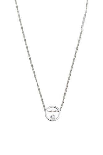 Esprit ESNL00741140 Damen Collier Mini Silber Weiß Zirkonia 43 cm