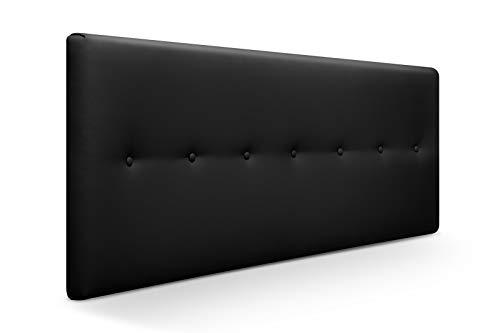 SUENOSZZZ-ESPECIALISTAS DEL DESCANSO Cabecero de Cama Dakota tapizado en Polipiel para Camas de 90 (100 x 57 cm) Polipiel Negro