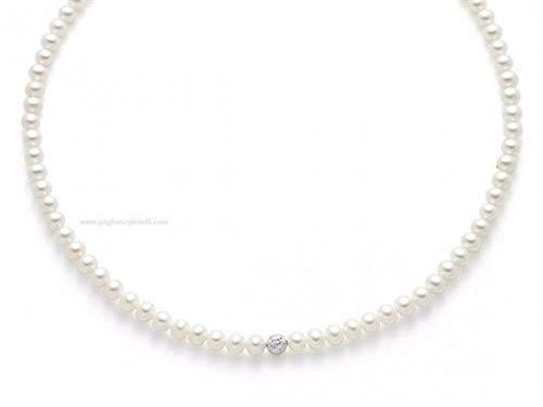 Collana Miluna Donna PCL4978B Oro Bianco Perle