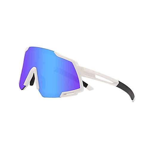 KBSN Gafas de Sol Deportivas, Ultraligeras Gafas de Polarizadas para Hombre y Mujer, con Proteccion UV400 & 4 Lentes Intercambiables, para Aire Libre, Golf, Pesca, Ciclismo, Correr