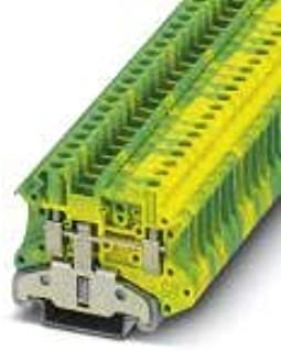 UT 4-MTD-PE/S, Ground Modular Terminal Block, Connection Method: Screw Connection, Number of Connections: 2, Cross Section:0.14 mm² - 6 (5 Items)