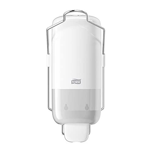 Tork 560100 Dispensador para jabón líquido y en spray con palanca de codo / Dosificador Elevation compatible con el sistema S1 / Blanco