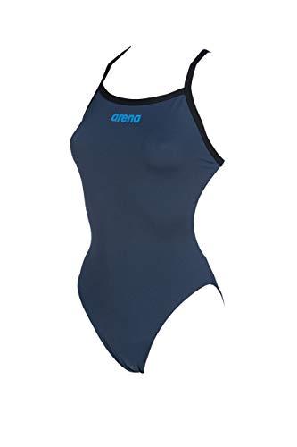 ARENA Solid Light Tech High One Piece Badeanzug Damen Shark/Black Größe DE 38 | US 34 2020 Schwimmanzug