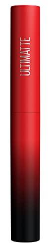 Maybelline New York Rossetto opaco, colori intensi e comfort, Color Sensational Ultimatte, colore n. 199 More Ruby (rosso), 1 x 2 g