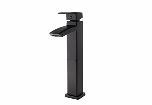 Pfister LG40DF1B Kenzo Single Control Vessel Bathroom Faucet, Matte Black