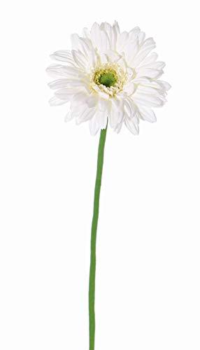 artplants.de Künstliche Blume Gerbera Helli, Creme, 65cm, Ø 12cm