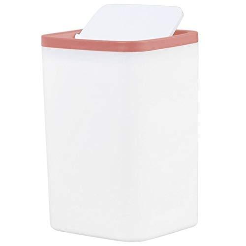 CHENClajt Papelera Cocina Cubo de la Basura Cubo de Basura pequeño Mini Escritorio de sobremesa Papelera por Papelera Servicio de Alquiler de Bin (Color : Red)