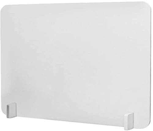 Amycheer 20'×16' Acrylic Office Partition Desk Dividers Panels Clamp-on Desktop Privacy Panel Desk Protection Screen for Offices/Classrooms/Library/Exam Centers/Call Centers/(White, Without Clip)