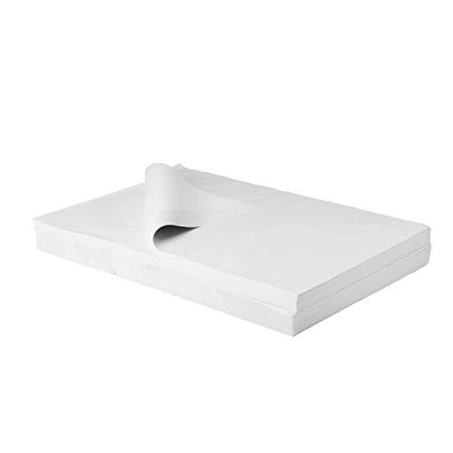 BB-Verpackungen, BB-imballaggio gioielliere di seta bianco, 2 kg 50 x 75 cm, di colore: bianco, senza legno (circa 180 fogli) carta velina pacchetto Silk Geschirrpapi