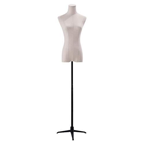 Barture Maniquí De Costura Busto Maniquies Mujer Tela De Lino Altura Ajustable 3 Estilos para Exhibición De Ropa (Color : A, Size : M)