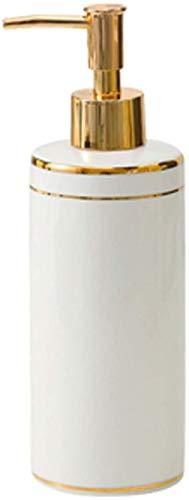 Dispensador de jabón para encimera de baño, dispensador de jabón de cerámica, diseño de textura de mármol, para cocina, baño, lavabo, botella líquida duradera, accesorios de baño de cocina