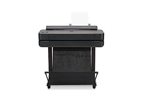 Impresora Plotter de Gran Formato HP DesignJet T650, de 24 pulgadas, hasta A1, Impresión Móvil, Wi-Fi, Gigabit Ethernet, USB 2.0 de alta velocidad, Garantía de 2 años (5HB08A)