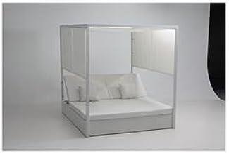 PROSIMEX COMPANY LIMITED M291860 - Cama Ratan Sun con Estructura Aluminio Blanco: Amazon.es: Jardín
