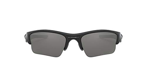 Oakley Men's OO9009 Flak Jacket XLJ Rectangular Sunglasses, Jet Black/Black Iridium Polarized, 63 mm