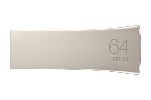 Samsung Memorie Bar Plus USB Flash Drive, USB 3.1, Type-A, Velocità di Lettura Fino a 300 MB/s, 64 GB, Argento (MUF-64BE3)
