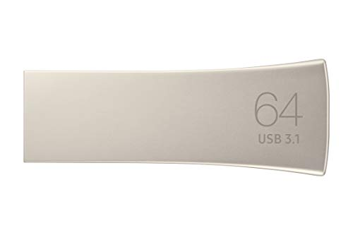 Samsung BAR Plus 64GB Typ-A 300 MB/s USB 3.1 Flash Drive Champagne Silver (MUF-64BE3/APC)