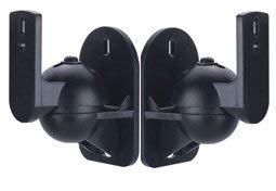 Lautsprecher Wandhalter Paar (2 Stück) schwarz HALTERUNGSPROFI Lautsprecherhalterungen LSB1