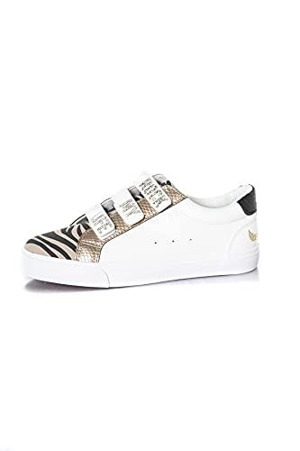 Kaporal Toundra, Basket Femme, Blanc/Zebre, 37 EU