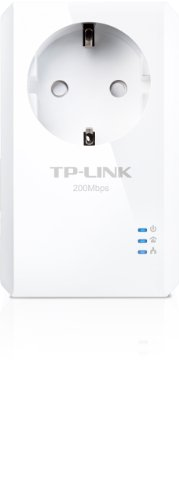 TP-Link Nano TL-PA2010P Powerline-Netzwerkadapter (200Mbps, Fast Ethernet, integrierte Steckdose)