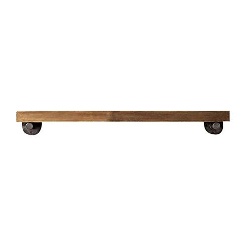 - Wandtafel, ondersteuning voor bloemen en massief houten scheidingswand voor balkon, ijzersteun (afmetingen: 80x20x3cm)