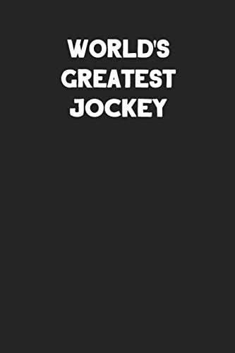 World s Greatest Jockey Blank Lined Career Notebook Journal product image