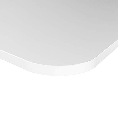 boho office® Tischplatte, Gamingplatte Schreibtischplatte 160 x 80 x 2.5 cm in Weiß Seidenmatt mit hoher Kratzfestigkeit und 120 kg Belastbarkeiz