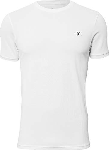 jbs of Denmark T-Shirt Herren Rundhals Weiß Pique Ultra Soft Touch und hohe Atmungsaktivität durch Bambus-Baumwoll Gewebe (Ohne Kratzenden Zettel) Schnelltrocknend, weiß, L