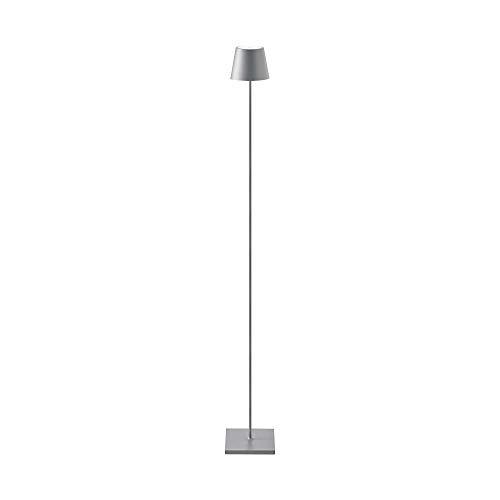 SIGOR Nuindie - Dimmbare LED Akku-Stehlampe Indoor & Outdoor, wiederaufladbar, 24h Leuchtdauer, grau