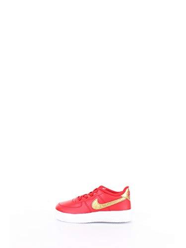 Nike Unisex Baby Force 1 '18 (td) Leichtathletik-Schuh, University Red/Metallic Gold/White, 22 EU