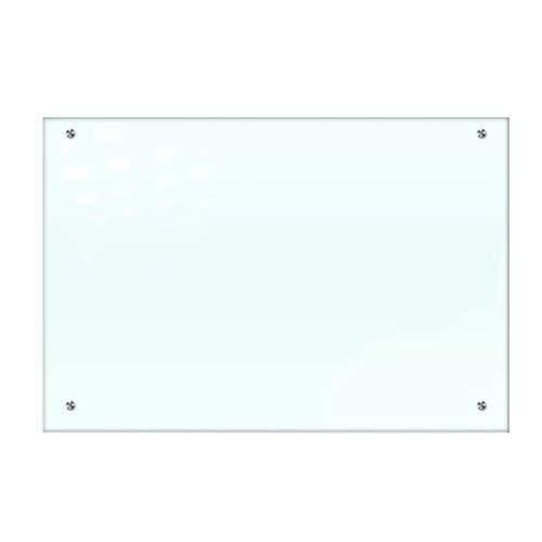 Tableau Blanc Scolaire en Verre Trempé Magnétique, Tableau Effaçable À Sec avec Porte-Stylo Transparent, Résistant Aux Chocs, Tableau D'écriture À Bord Lisse 2.5d, Résistant Aux Rayures