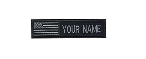 USA Flag American Flag Custom Name Text Embroidered Morale Patch Hook Backing