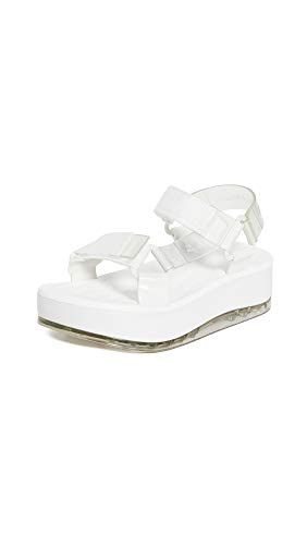 Melissa Women's Papete Platform Sandals, Clear, 9 Medium US