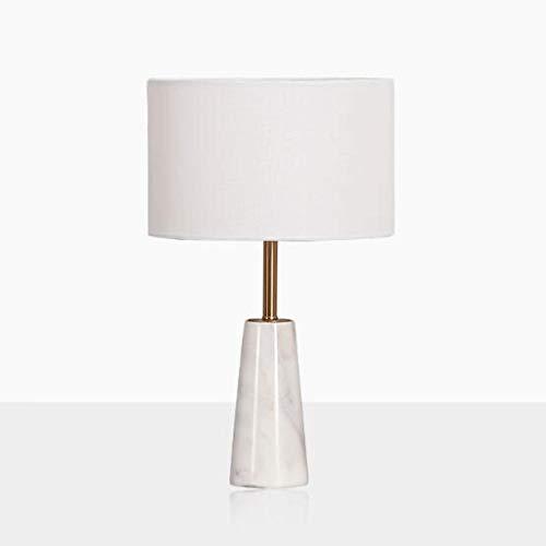 Lámpara de mesita de noche Lámparas de mesa de mármol moderna minimalista Luz de lujo dormitorio lámpara de cabecera decorativo de estar matrimonio Habitación mesita de noche Lámparas Lámpara de mesa