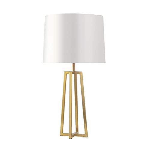 Lámpara de mesa de servicio Lámparas de mesa modernas Lámparas de mesita de noche con lámparas de tela Lámparas de mesita de noche de geometría creativa for la lámpara de estudio de oficina en casa, 2
