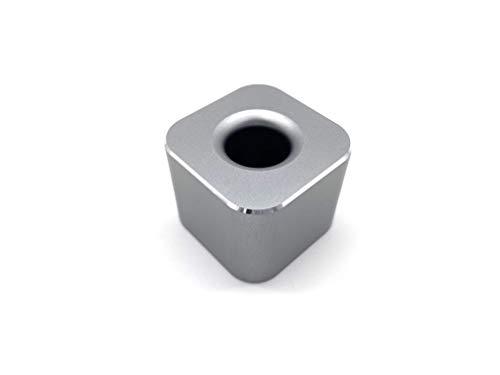 VENVEN ペンスタンド 屈強なアルミ合金製の一本用 ペン立て オフィスデスク 店舗 受付 メモに便利な事務用品 (グレー)