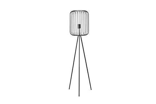 LIFA LIVING Moderne Staande Lamp, Zwarte Tripod Vloerlamp, Metalen Driepoot Vloerlamp, Decoratieve Lamp voor Woonkamer, Slaapkamer, Kantoor, 134 cm