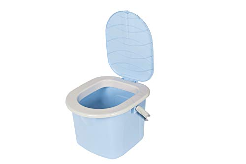 BranQ - Home essential Jungen Campingtoilette, Mobile Toilette, Hellblau, 31,0x31,0x28,0 cm (LxHxB)