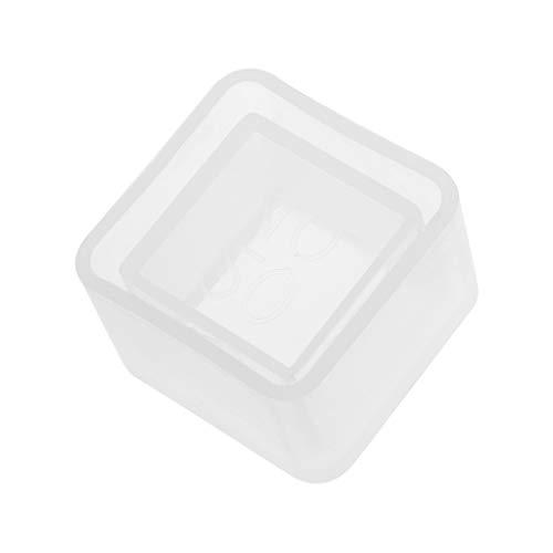 Xuniu DIY Cubo de Silicona moldes de macetas para Jardinera de Cemento jarrón de hormigón moldes de jabón 48x35mm