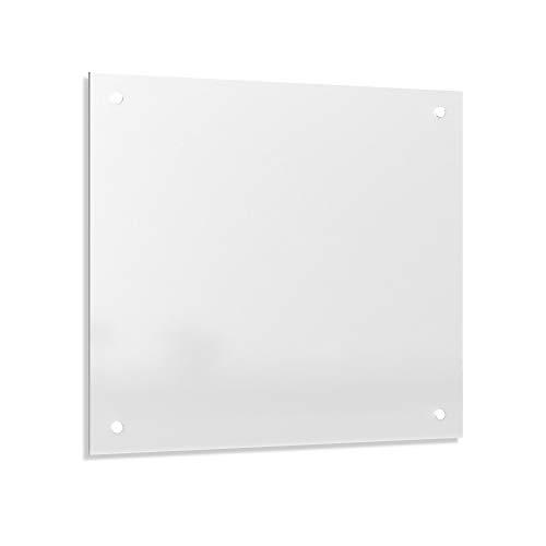 Alasta Küchenrückwand 60x50 Sicherheitsglas Spritzschutz für Küche - Farbe Milchglas